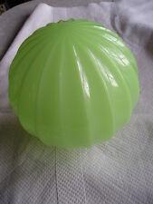 """vtg JADITE ceiling light glass globe- 25"""" round---opening 4""""---1940s"""