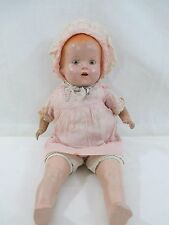 "Vintage 16"" Mama Crier Doll - Sleepy Eyes, Open Mouth w/Teeth"