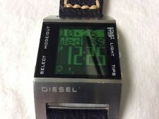Diesel Digital Lcd Screen Super Nice Leather Band Tips Very Cool No Reserve