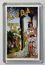 Cuba Vintage Travel Poster Fridge Magnet Cuba Holiday Isle Of Tropics