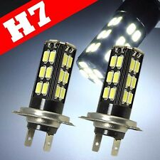 H7 Samsung Chip LED 30 SMD Super White 6000K 12V Headlight Light Bulb High Beam