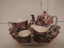 Rare! Vintage Royal Winton Chintz Hazel Breakfast Set Teapot Tea for One