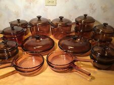 17 Piece AMBER VISIONS Corning Cookware 3.5 QUART DUTCH OVEN LARGE VARIETY