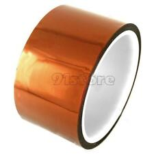 50mm 5cm x 30M Kapton Tape Sticky High Temperature Heat Resistant Polyimide SR1G