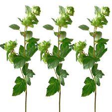 Set of 3 Artificial Hop Spray Stems - 74cm Plant - Decorative Artificial Plants