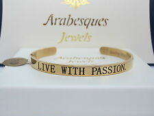 """LIVE WITH PASSION"" SENTIMENTS/MESSAGE BANGLE GENUINE STERLINA MI MILANO GOLD"