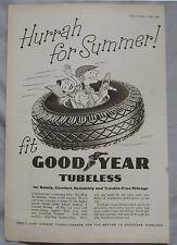 1957 Good Year Tyres Original advert No.1