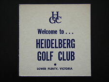 HEIDELBERG GOLF CLUB LOWER PLENTY VICTORIA COASTER