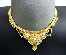 Afghan Kuchi Tribal GOLDEN Necklace Belly Dance Gypsy Jewelry Banjara Rabari ATS