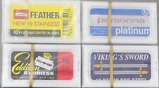Set of 40 shaving safety double edge razor blades Personna-Feather