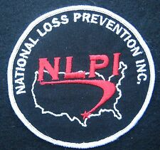 "NATIONAL LOSS PREVENTION EMBROIDERED SEW ON ONLY PATCH UNIFORM NPLI 3 7/8"" round"