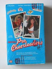 Vintage Box Of 1992 Lime Rock Football Pro Cheerleaders Trading Cards 36 Foil Pk