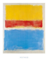 Mark rothko sans titre yellow-red and Blue poster Art Imprimé Image 80x60cm