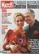 paris match n°2811 sandrine bonnaire irak diabete