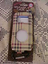 MP3 Player Case Fits Nano Designer Plaid Has Clip Holder on Bottom NEW