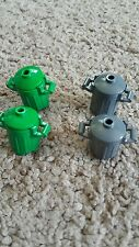 new Lego dust bin trash can x2 green and grey with a top you will get 4 cans.
