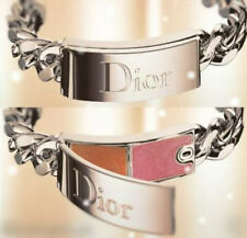100% AUTHENTIC XMAS DIOR COUTURE Gourmette SILVER JEWEL Lipgloss CHARM BRACELET