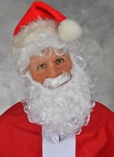 Funny Santa Claus Christmas Mask & Wig & Beard Mask Supersoft Moves with Face