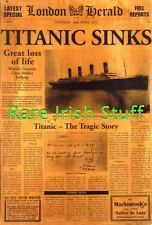 Titanic Sinks White Star Line Vintage Newspaper - 16th April 1912 - Print
