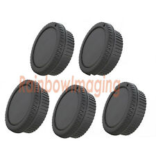 "5 x Rear Lens Cover + Camera Body Cap for Canon DSLR SLR Lens  ""US Shipping"""
