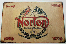 NORTON  MOTORCYCLE  METAL TIN SIGNS vintage cafe pub bar garage decor chic