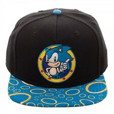 SEGA GENESIS SONIC THE HEDGEHOG POSE LOGO RINGS SUBLIMATED BILL SNAPBACK HAT CAP