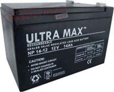3x ULTRAMAX12V 14AH 12AH 15AH BATERÍA RECARGABLE PARA SAKURA BICICLETA ELÉCTRICA