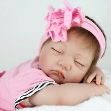 New Handmade Reborn Baby Toy Newborn Lifelike Silicone Vinyl Sleeping Girl Dolls