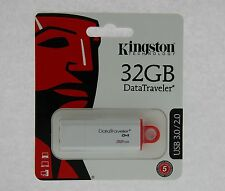 NEW KINGSTON DATATRAVELER DTIG4 32GB USB FLASH DRIVE DTI G4 USB 3.0 32G 32 G GB