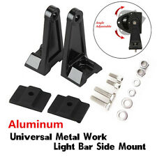 Universal Side Brackets Mount Row LED Work Light Bar Heavy Duty Diecast Aluminum