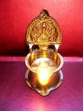 Kamakshi Brass Diya Oil Lamp Religious Hindu Goddess Laxmi Aarti 9 cm Deepak