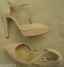 Dune Nude Pink Suede Platform Party Wedding High shoes (NEW)-Euro size 36-£80