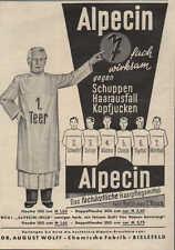 """Alpecin-Haarwasser, Werbung / Anzeige 1936, """"7 fach wirksam"""""""