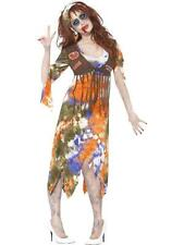 60's Zombie Hippie Hippy  Halloween Fancy Dress Costume Size 16 - 18 P9662