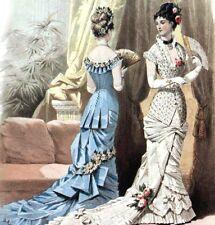 Moniteur de LA MODE PARISIENNE IL Y A CENT ANS Jul.DAVID Costumes Parisiens 1879