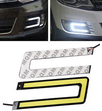 2PCS COB 6000K Led Daytime Running Light DRL Headlight Fog Lamp U Shape White E2