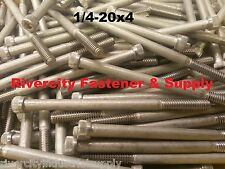 (1) 1/4-20x4 Socket Allen Head Cap Screw Stainless Steel 1/4 x 4""
