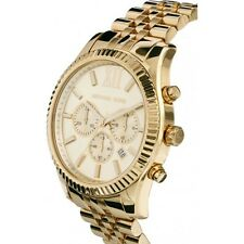 NEW MICHAEL KORS LEXINGTON GOLD-TONE STAINLESS STEEL LADIES WATCH MK5556