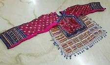 ANTIQUE KUTCH RABARI BANJARA GYPSY TRIBE TRADITIONAL EMBROIDERY BLOUSE CHOLI TOP