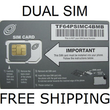 NET10 MICRO SIM CARD DUAL MICRO/STANDARD 4G LTE GSM BRAND NEW NEVER ACTIVATED