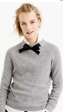 NWT J. Crew Gray GAYLE TIE Sweater Small
