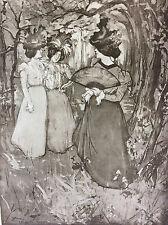 """Manuel Robbe """"Le Menuet d'automne"""" lithographie originale 1898 L'estampe Moderne"""