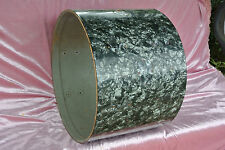 "1960's Rogers 20"" HOLIDAY BLACK DIAMOND PEARL BASS DRUM SHELL for SET LOT #M810"
