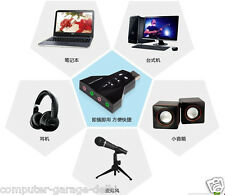 External usb audio sound card  Dual  MIC + HEADSET