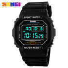 Digital SKMEI Men's Sport Quartz Square Military Waterproof Day & Date LED Watch