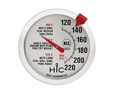 Roasting Meat Poultry Ham Turkey Grill Thermometer, Oven Safe, Large 2-Inch Face