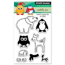 PENNY BLACK RUBBER STAMPS CLEAR CUDDLY JOY NEW STAMP