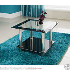Phoenix Lamp Table Elegant Glass And Chrome Finish