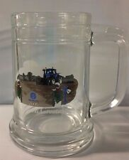 2006 New Holland Seasons Greetings Clear Glass Mug Quad Tractor SUS5734DS