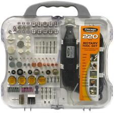 220PC Complete Rotary Tool Kit  Accessories Fits Dremel, Variable Speed 3/32-1/8